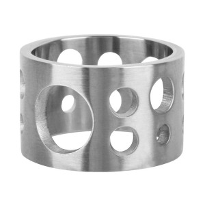 Fire Steel, Men's Stainless Steel Rings, Comte Fromage Motif