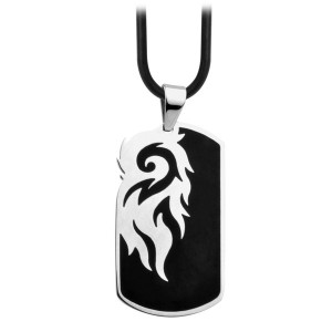 Fire Steel, Men's Stainless Steel Pendants, Fire motif