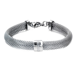 Chunky Mesh Fire Steel, Stainless Steel Bangles