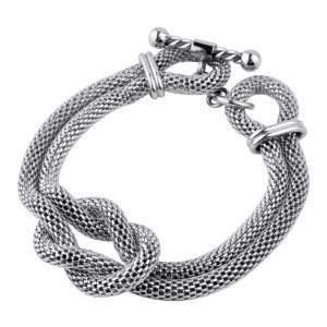 Chunky Rope Mesh Fire Steel, Stainless Steel Bracelets