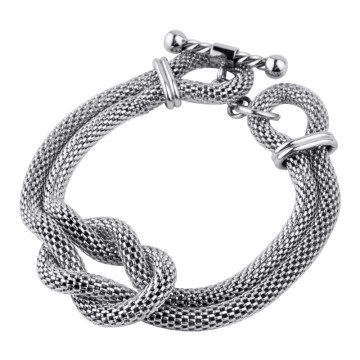 Twist and turn with Rope Fire Steel Stainless Steel Bracelets
