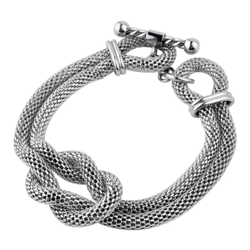 6b48dc065 Chunky Rope Mesh Fire Steel, Stainless Steel Bracelets