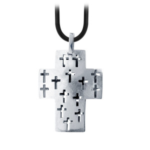 Men's Multiple Cross Fire Steel, Stainless Steel Pendants