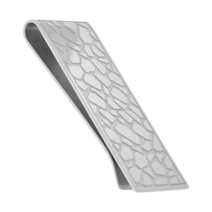Fire Steel, Men's Stainless Steel Money Clip, Mosaic Design