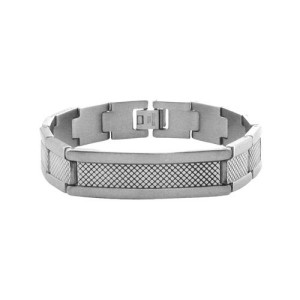 Fire Steel, Men's Chunky Stainless Steel Bracelets with Crosses