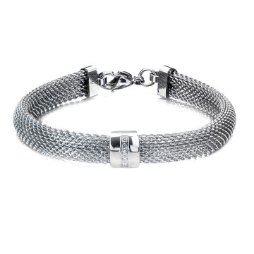 Indulge in Stainless Steel Mesh Bangles, by Fire Steel