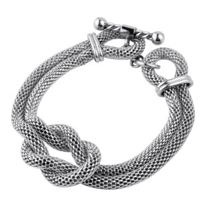 Chunky Rope Mesh Fire Steel, Stainless Steel Bracelets