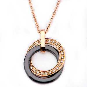 Fire Steel, Rose gold Stainless Steel Jewellery Sets, Necklace